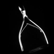 Накожницы (кусачки для кутикулы) профессиональные ручной работы в кожаном чехле - 15mm